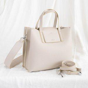 😍The Stella Genuine Leather Satchel Bag - Cream
